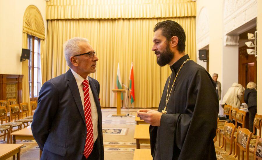 Ключарь храма посетил встречу с Чрезвычайным и Полномочным послом Республики Болгария в Беларуси